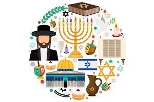 Jewish holiday symbols