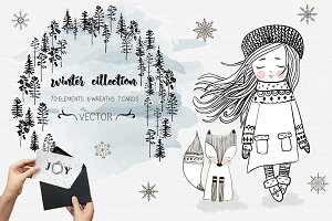 Winter collection. Holliday set