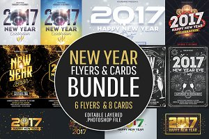 New Year Flyers & Cards Bundle