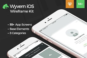 Wyvern iOS Wireframe UI Kit