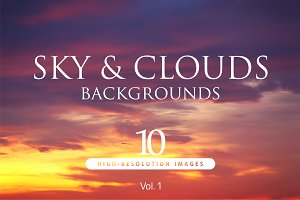 10 Hi-Res Sky backgrounds Vol.1