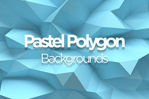 Pastel Polygon Backgrounds 10 items