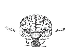 Human brain explosion