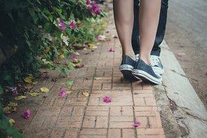Kissing in love