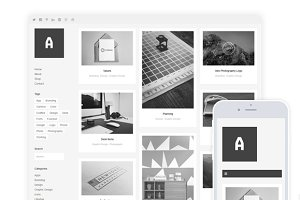 WordPress Portfolio Themes: AlienWP - Althea / Grid Portfolio & Shop Theme