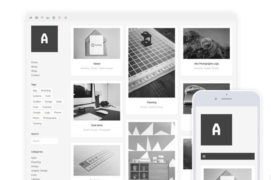 Althea / Grid Portfolio & Shop Theme