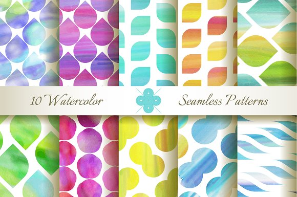 Seamless Watercolor Patterns in Patterns
