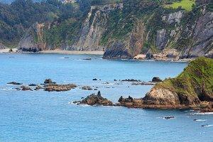 Summer Atlantic ocean coast.