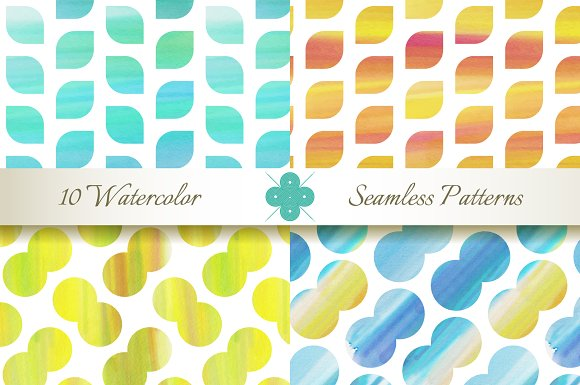 Seamless Watercolor Patterns in Patterns - product preview 2