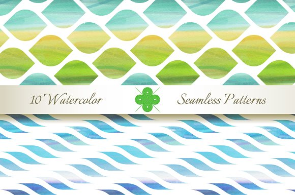 Seamless Watercolor Patterns in Patterns - product preview 3
