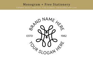 M Monogram + Free Stationery