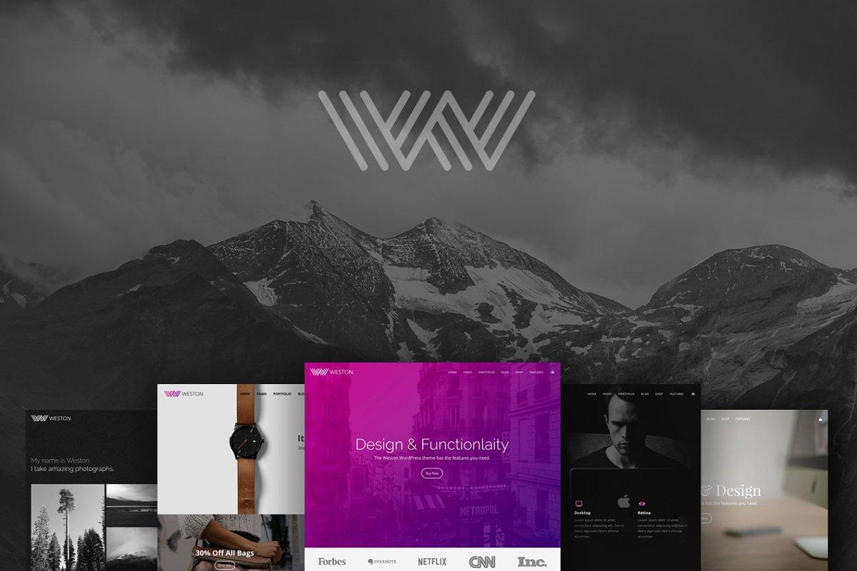Weston - Do-it-all WordPress Theme ~ WordPress Portfolio Themes
