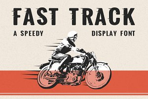 Fast Track - A Speedy Display Font