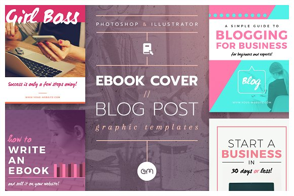Ebook cover blog post graphics web elements creative market ebook cover blog post graphics web elements maxwellsz