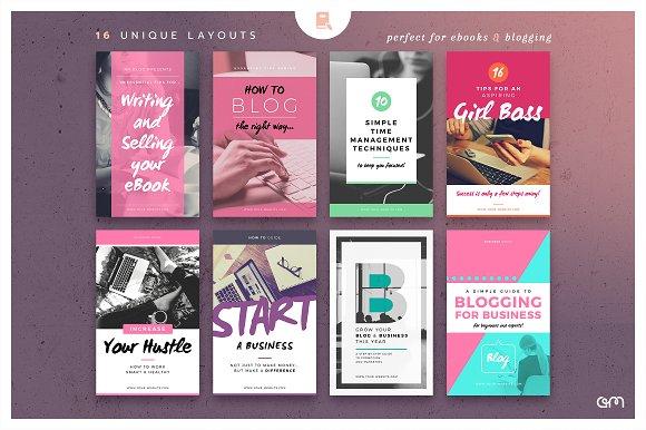 ebook cover blog post graphics web elements creative market