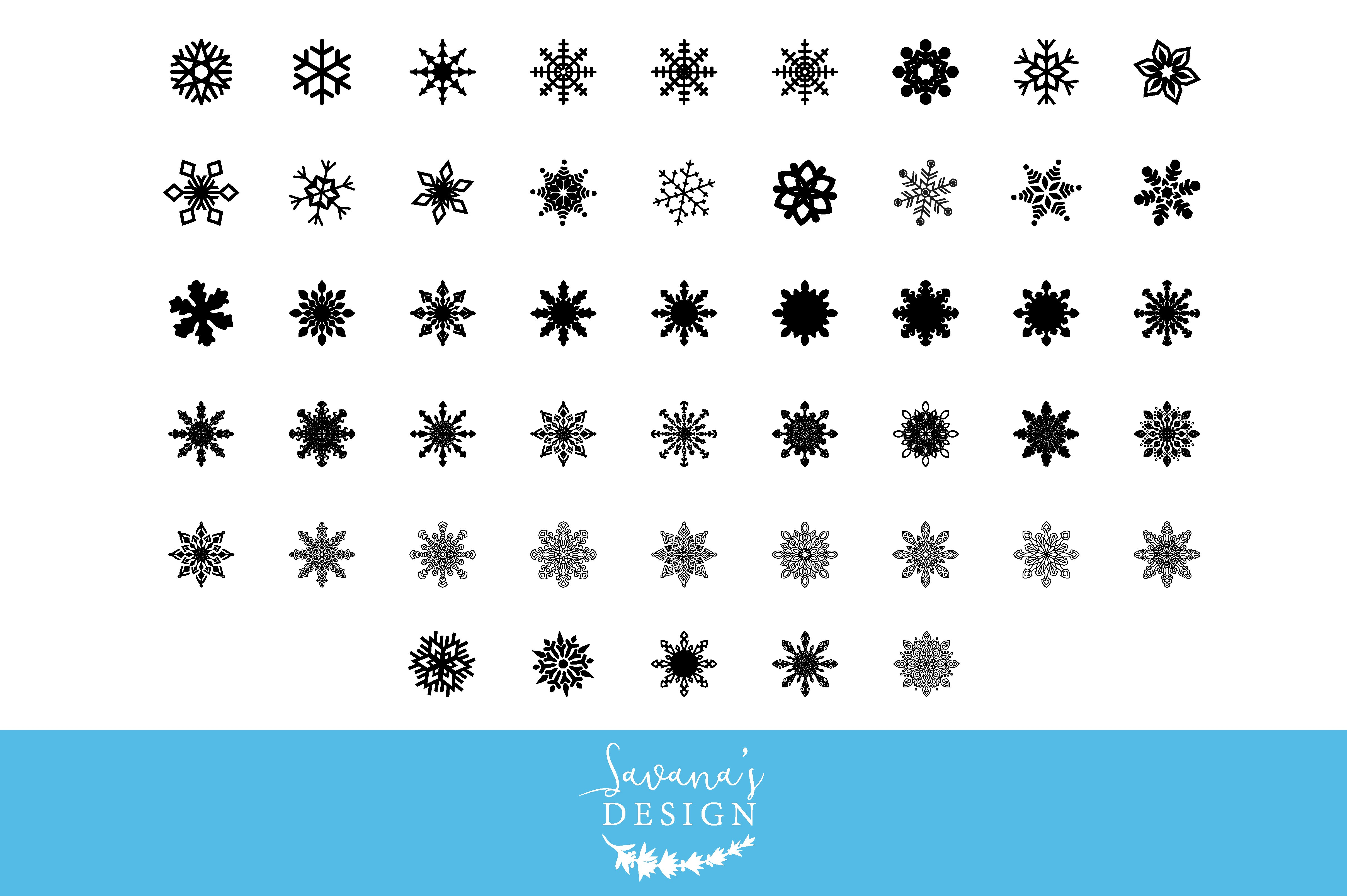 snowflake svg cut files graphic objects creative market
