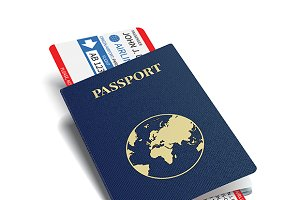 Passport & boarding pass