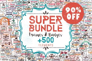 90% OFF Super Bundle Frames & Badges
