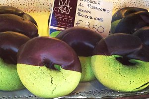 Chocolate Covered Green Cookie
