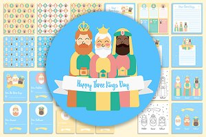 Three Kings Designs Christmas Set