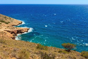 Summer Mediterranean sea coast