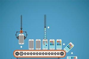 Software upload conveyor