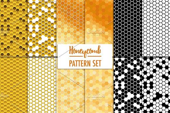12 Honeycomb Pattern Set Graphic Patterns Creative Market