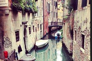 Italy Venice Canal Street
