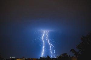 Thunder over city