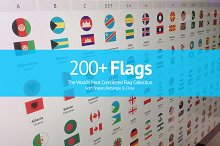 200+ Flags From Around The World