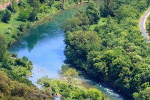Summer valley River Tarn.