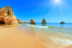 Algarve sunshiny beach