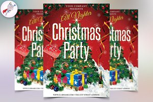 Christmas All Nighter Flyer Template