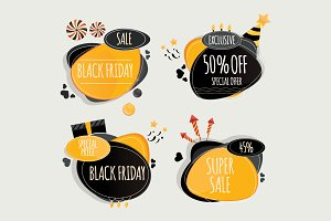 Set of Black friday design elements.