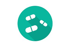 Medicine pills icon. Vector