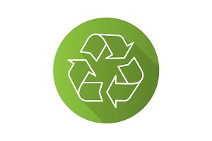 Recycle symbol. Vector