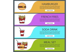 Fastfood banners. Vector