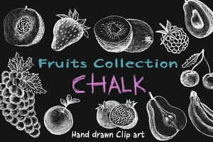 Fruits Chalk Blackboard Set