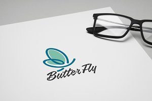 Butter Fly Logo Template