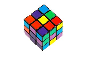 Six color cube puzzle