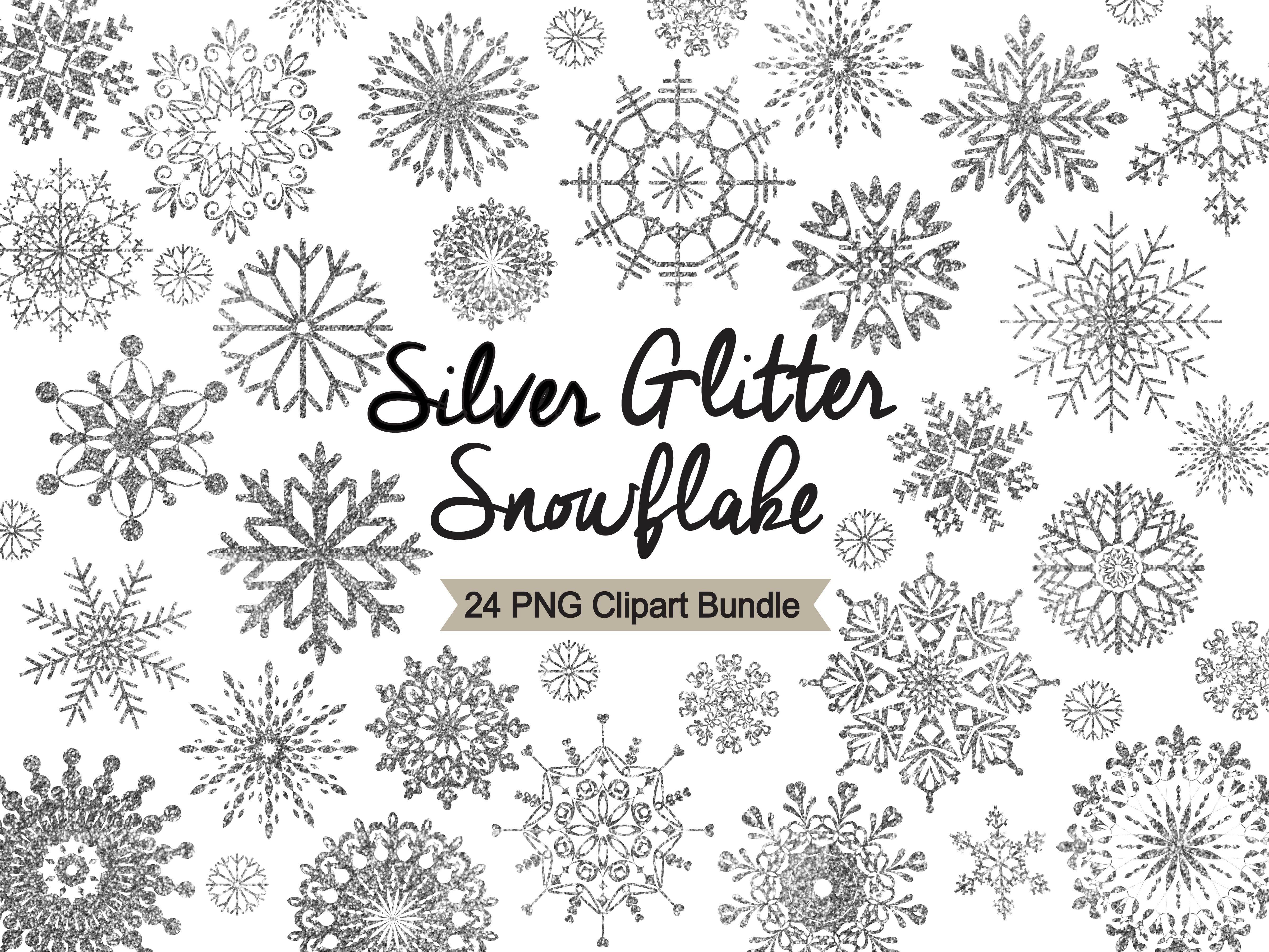 Silver Glitter Snowflake Clipart Custom Designed Illustrations Creative Market Download 309 silver glitter free vectors. creative market
