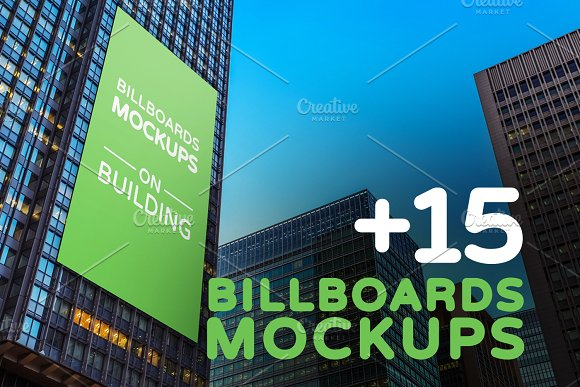 Billboards Mockups on Building Vol.2 - Product Mockups