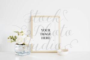 Frame Mockup Stock Photo