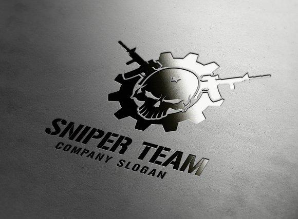 sniper team logo logo templates creative market