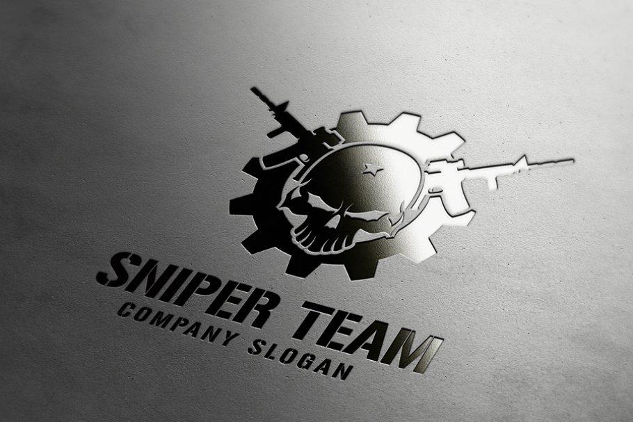 Sniper Team Logo ~ Logo Templates ~ Creative Market