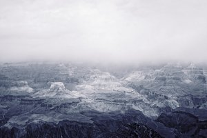 Fog Grand Canyon Mountain Background