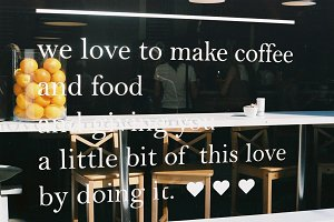 We love to make coffee and food.