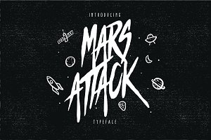 Mars Attack Typeface - Discount 50%
