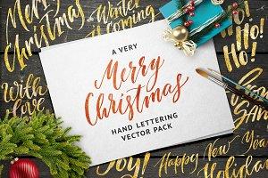 Merry Xmas Handlettering Vector