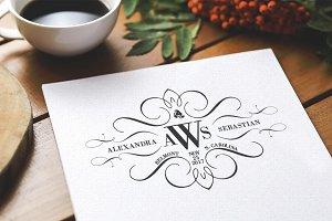 Calligraphy Monogram Wedding Logo